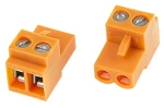 2 Pin Orange Terminal Block Connector (Weidmuller)